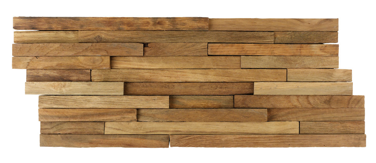 TSN-159 Teak Wood Cladding Rustic strip 2 cm