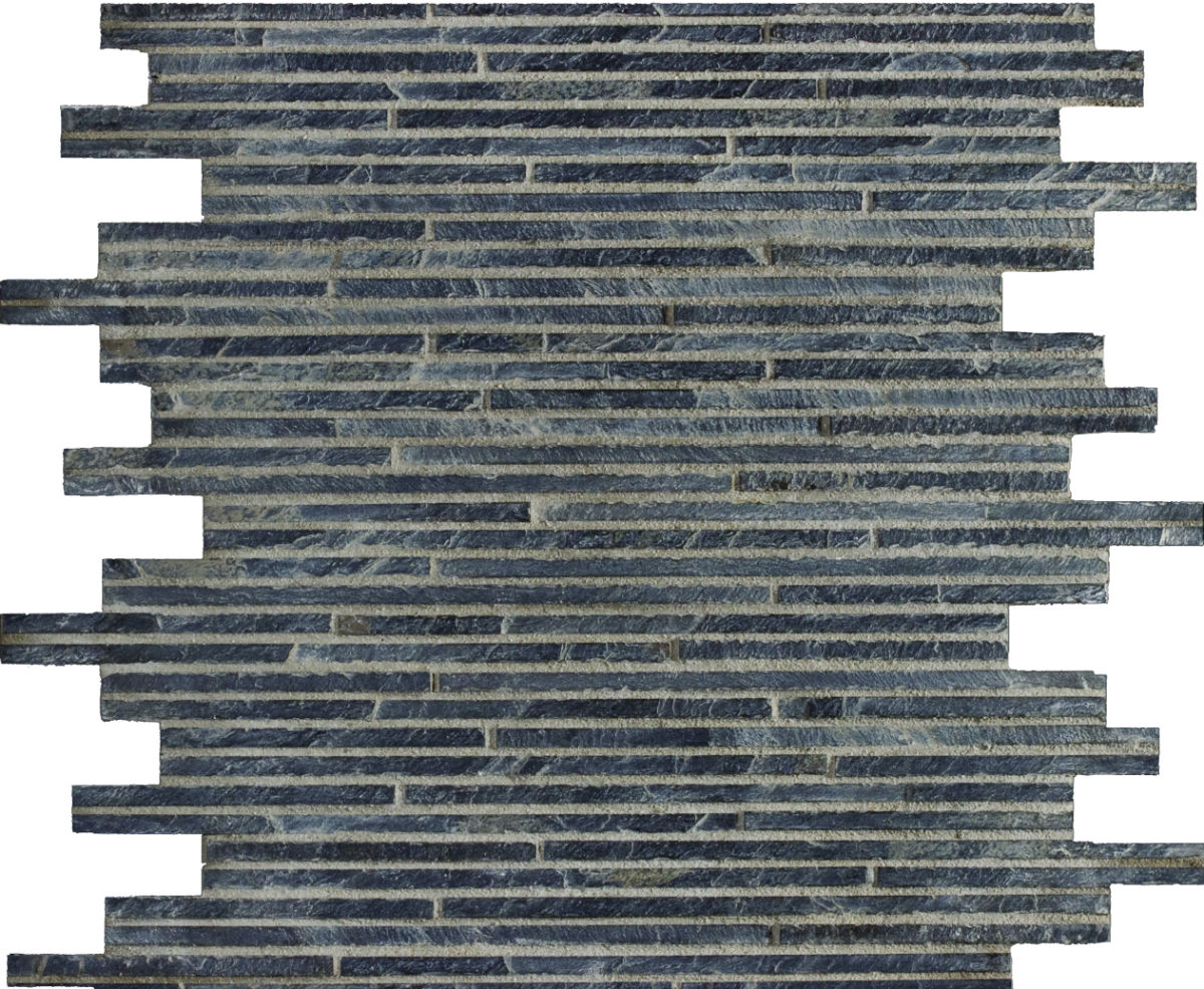 TSN-321 Natural Slate Mosaics Black